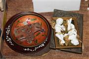 Sale 8340 - Lot 87 - Mintons Moyr Smith Tiles with Other Wares incl Japanese Bowl