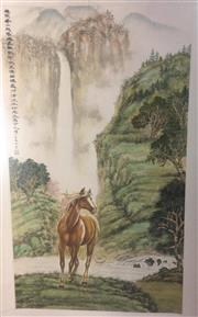 Sale 8436 - Lot 56 - Chinese Painting in a Holder