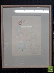 Sale 8468 - Lot 2033 - Maureen Lee (XX - XXI) - Seated Nude 35 x 26cm
