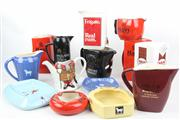 Sale 8477 - Lot 4 - Alcohol Collectors Jugs and Ashtrays inc Beefeaters, Haig, Suntory