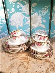 Sale 8500A - Lot 80 - A collectible vintage Royal Doulton English Rose afternoon set comprising of 4 x dinner plates 4 x side plates & 4 x trio cup & sauc...