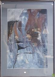 Sale 8600 - Lot 2009 - Virginia Glover - Standing Nude, 1992 pastel & watercolour 144 x 77cm (frame size) signed Glover at lower right