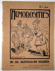 Sale 8639 - Lot 58 - Humorosities by an Australian Soldier, Corpl Cecil L Hartt AIF published by Australian Trading and Agencies London.