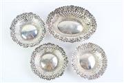 Sale 8832 - Lot 94 - A Set of 4 Birmingham Hallmarked Silver Early 20th Century Dishes
