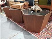 Sale 8863 - Lot 1057 - Set of Three Glass Top Side Tables