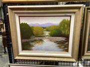Sale 8906 - Lot 2030 - Jack Collis - Tranquil Waters oil on board, 46 x 56.5cm (frame) signed