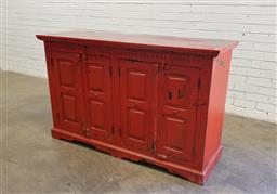 Sale 9129 - Lot 1044 - Painted timber sideboard (h:91 x w:197 x d:47cm)