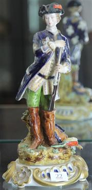 Sale 7950 - Lot 22 - Paris Porcelain Figure of Hunter with Pheasant