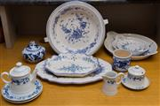 Sale 8310A - Lot 215 - A quantity of assorted blue and white ceramic wares, including German and Italian blue and white floralwares