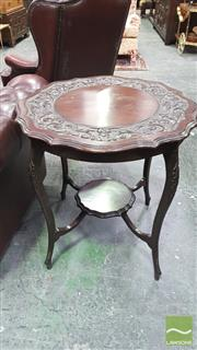 Sale 8375 - Lot 1035 - Victorian Carved 2 Tier Occasional Table