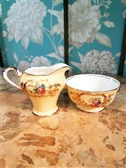 Sale 8500A - Lot 81 - A vintage Aynsley England sugar & creamer set - Condition: Excellent