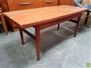 Sale 8607 - Lot 1026 - Danish Metamorphic Teak Coffee com Dining Table (H: 54 L: 124 W: 55cm, not extended)