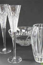 Sale 8586 - Lot 254 - Waterford Crystal Wares inc Bowl, Vase and Pair of Tall Wine Glasses