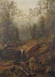 Sale 8773 - Lot 596 - Attributed to James Howe Carse (1819 - 1900) - Untitled (Bush Scene) 65 x 46.5cm