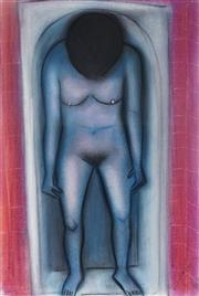 Sale 8976A - Lot 5013 - Robert Dickerson (1924 - 2015) - Nude in the Bath 37.5 x 56.0 cm (frame: 90 x 70 x 3 cm)