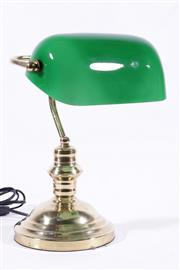 Sale 9010D - Lot 790 - Brass Banker Lamp (h:33cm)
