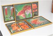 Sale 9070H - Lot 58 - A group of five framed floral photographs of Australian Native flowers, frame size approx 32cm x 37cm