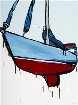 Sale 9109 - Lot 513 - Jasper Knight (1978 - ) Sky Yacht, 2015 acrylic on board 102 x 76 cm (frame: 121 x 94 x 4 cm) signed and dated lower right