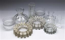 Sale 9098 - Lot 310 - Large collection of Swedish glassware incl. candle holders, decanters, vases and bowls
