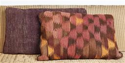 Sale 9123J - Lot 188 - Two throw cushions repurposed from Antique Kilim rugs, each with inserts and each approx 70 x 50cm