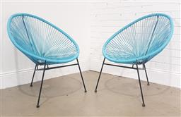 Sale 9188 - Lot 1723 - Pair of Acapulco style chairs (h:87 x w:74cm)
