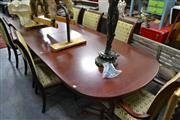 Sale 8115 - Lot 1141 - Palermo Dining Suite incl. Extension Table w 2 Leaves & 8 Chairs incl. 2 Carvers