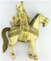 Sale 8123 - Lot 62 - Qing to Republic Ivory Carved General Yang Figure