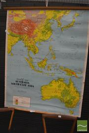Sale 8275 - Lot 1085 - Chas H Scally Vintage School Map of South East Asia
