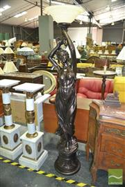 Sale 8312 - Lot 1019 - Lady Figure Floor Lamp