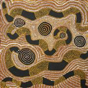 Sale 8526A - Lot 5038 - Doctor George Tjapaltjarri (c1935 - ) - Untitled 91.5 x 91.5cm (stretched & ready to hang)