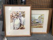 Sale 8726 - Lot 2082 - Hugh Gittus (4 works) Country Scenes watercolour, each 24 x 20cm each and signed lower