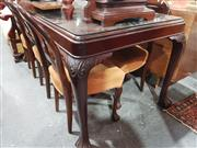 Sale 8740 - Lot 1330 - Timber Seven Piece Dining Setting with Glass Top -