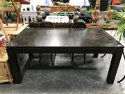 Sale 8782 - Lot 1378 - Modern Timber Dining Table (H: 77 L: 180 W: 100cm)
