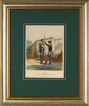 Sale 8870 - Lot 2067 - German School (C19th) - Military Uniforms, The Duchy of Nassau c 1870 31 x 22cm