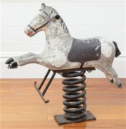 Sale 9134H - Lot 42 - An antique spring mount playground horse, Ex: Country Trader Height 61cm