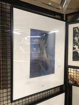 Sale 9152 - Lot 2048 - Paul Williams Seated Nude, pastel, frame: 60 x 50 cm, signed lower right -