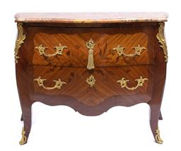 Sale 9200P - Lot 79 - An antique marble top French commode, Height 90cm x Width 115cm