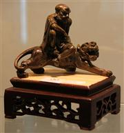 Sale 7950 - Lot 99 - Chinese Bronze Figure with Lion