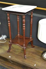 Sale 7981A - Lot 1002 - Marble Top Timber Turned Pedestal