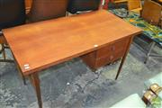 Sale 8275 - Lot 1068 - Parker Teak Two Drawer Desk
