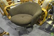 Sale 8287 - Lot 1060 - Brown Woollen Tub Chair