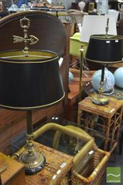 Sale 8338 - Lot 1657 - Pair of Brass Table Lamps
