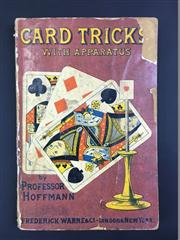 Sale 8539M - Lot 30 - Professor Hoffmann, Card Tricks with Apparatus. London: Frederick Warne & Co., c. early C20th. Paperback with colourful illustrati...