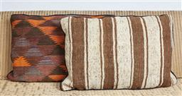 Sale 9123J - Lot 189 - Two throw cushions repurposed from Antique Kilim rugs, each with inserts and each approx 70 x 50cm