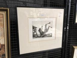 Sale 9172 - Lot 2032 - Gary Shead, Metamorphosis etching edition: 1/25 (AF: foxing), 48 x 52 cm, signed lower right. -