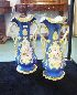 Sale 7360 - Lot 48 - A PAIR OF COALPORT MANTLE VASES