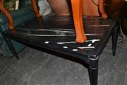 Sale 8013 - Lot 1165 - Black Painted Timber Coffee Table w Granite Top