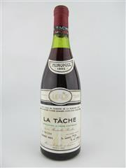 Sale 8397 - Lot 508 - 1x 1985 Domaine de la Romanee-Conti, La Tache - level at 3cm below cork, slightly damaged capsule