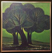 Sale 8445A - Lot 74 - Three Trees Oil on Canvas Signed Lower Right - dimensions - 60 x 60cm