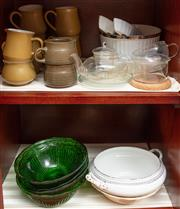 Sale 8926K - Lot 58 - Two shelf lots including Denby coffee wares, other ceramics and glass